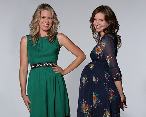 PLAYING HOUSE --  Pictured: (l-r) Jessica St. Clair as Emma, Lennon Parham as Maggie - (Photo by: Evans Vestal Ward/USA Network)