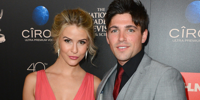 Actress Linsey Godfrey (The Bold and the Beautiful) and Robert Adamson (The Young and the Restless) attend The 40th Annual Daytime Emmy Awards at The Beverly Hilton Hotel on June 16, 2013 in Beverly Hills, California.