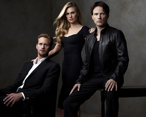 Pictured: Alexander Skarsgård as Eric, Anna Paquin as Sookie and Stephen Moyer as Bill | Photo Credit: HBO