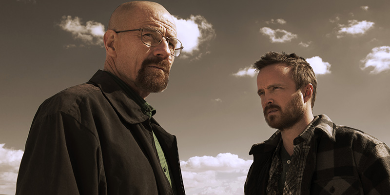 Walter White (Bryan Cranston) and Jesse Pinkman (Aaron Paul) - Breaking Bad _ Season 5B _ Gallery - Photo Credit: Frank Ockenfels 3/AMC