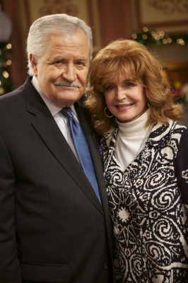 John Aniston and Suzanne Rogers pose for pictures during her 40th anniversary celebration