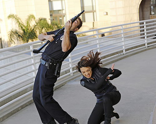 Agent Melinda May (Ming-Na Wen) takes out an assailant. Photo Credit: Bob D'Amico/ABC