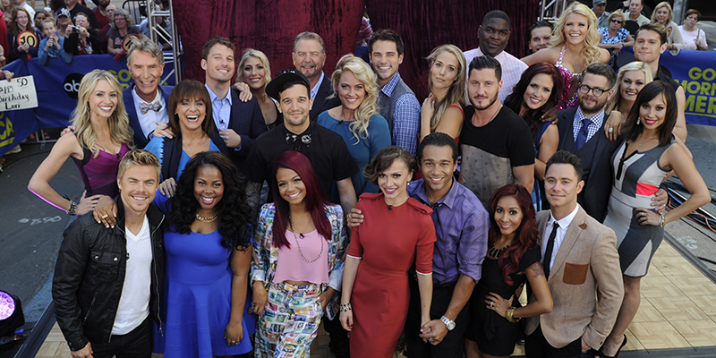 "GOOD MORNING AMERICA - The cast of Season 17 of ""Dancing With The Stars"" is announced live on ""Good Morning America,"" 9/4/13, airing on the ABC Television Network. (ABC/Ida Mae Astute) DANCING WITH THE STARS CAST"