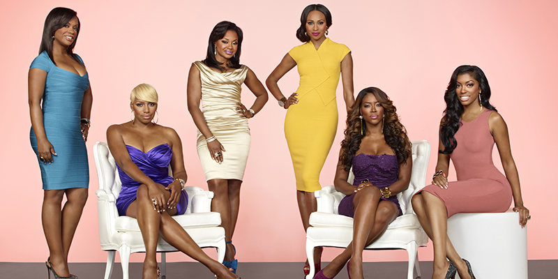 THE REAL HOUSEWIVES OF ATLANTA -- Season: 5 -- Pictured: (l-r)  Kandi Burruss, NeNe Leakes, Phaedra Parks, Cynthia Bailey, Kenya Moore, Porsha Stewart -- (Photo by: Alex Martinez/Bravo)