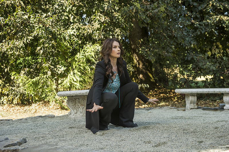 Julia Ormond stars in an all-new episode of Witches of East End, airing Sunday, October 27, at 10pm ET/PT on Lifetime. Photo by Diyah Pera