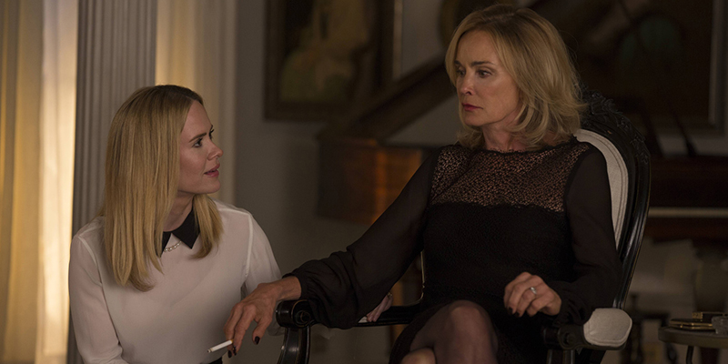 AMERICAN HORROR STORY: COVEN Fearful Pranks Ensue - Episode 304 (Airs Wednesday, October 30, 10:00 PM e/p) --Pictured: (L-R) Sarah Paulson as Cordelia, Jessica Lange as Fiona -- CR. Michele K. Short/FX