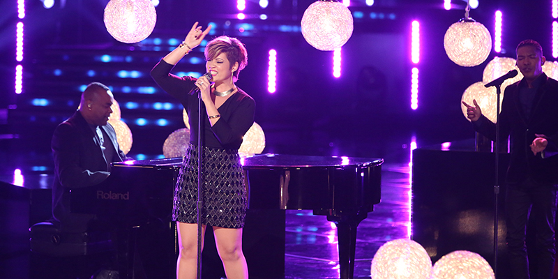 "THE VOICE -- ""Live Show"" Episode 515A -- Pictured: Tessanne Chin -- (Photo by: Tyler Golden/NBC)"