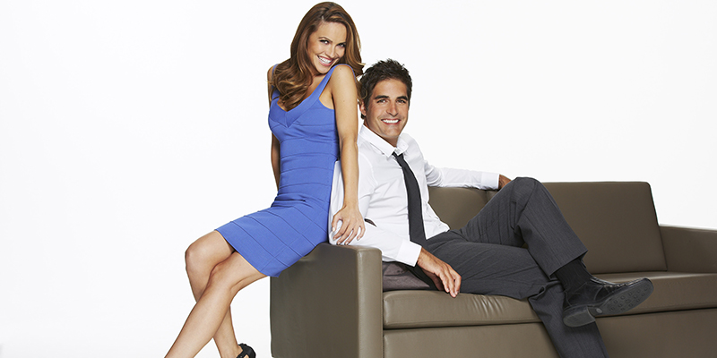 DAYS OF OUR LIVES -- Season: 48 -- Pictured: (l-r) Chrishell Stause as Jordan, Galen Gering as Rafe -- (Photo by: Paul Drinkwater/NBC)