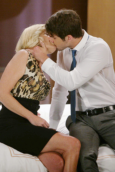 Ava (Maura West) falls under Morgan's (Bryan Craig) Corinthos charm! Photo courtesy ABC
