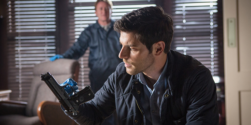 "GRIMM -- ""The Good Soldier"" Episode 311 -- Pictured: David Giuntoli as Nick Burkhardt -- (Photo by: Scott Green/NBC)"