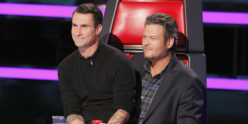 "THE VOICE -- ""Blind Auditions"" -- Pictured: (l-r) Adam Levine, Blake Shelton -- (Photo by: Trae Patton/NBC)"