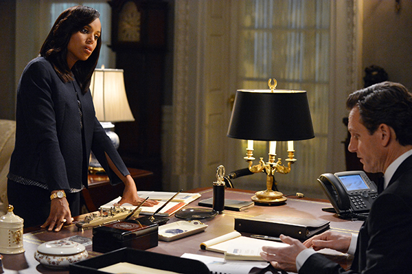 "SCANDAL - ""We Do Not Touch the First Ladies"" - Olivia (Kerry Washington) tries to set Fitz (Tony Goldwyn) straight; Photo Credit: ABC/Eric McCandless"