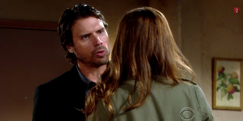 Nick (Joshua Morrow) comes face to face with 'Cassie' (Cameryn Grimes).