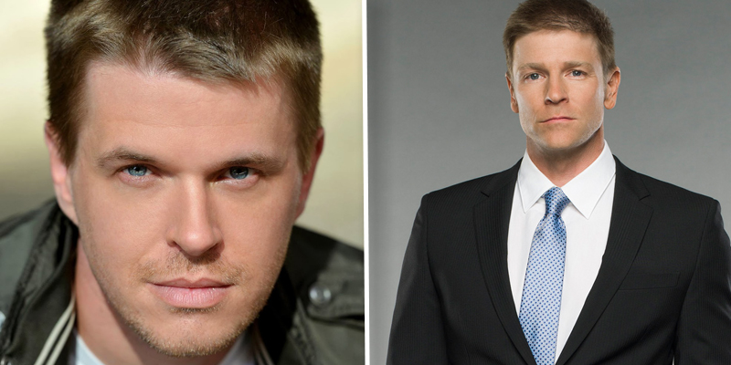Pictured: David Tom (l) is out as Billy Abbott. Burgess Jenkins (r) will take over the role. Photo credit: Bjoern Kommerell (l); Richard McLaren/Lifetime