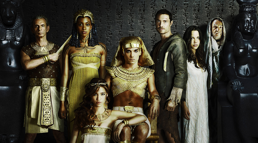 "Cast of Fox's ""HIEROGLYPH"". Pictured L-R: Antony Bunsee, Condola Rashad, Kelsey Chow (sitting) Reece Ritchie, Max Brown, Caroline Ford and John  Rhyse-Davies.  © 2014 Fox Broadcasting Co CR: Jacob Lewis/FOX."