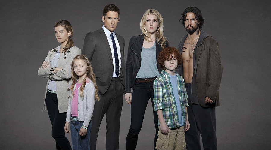 "THE WHISPERS - ""The Whispers"" stars Brianna Brown  as Lena Lawrence, Kylie Rogers as Minx Lawrence, Barry Sloane as Wes Lawrence, Lily Rabe as Claire Bennigan, Kyle Harrison Breitkopf as Henry, Milo Ventimiglia as John Doe/Drew Bennigan. (ABC/Craig Sjodin)"
