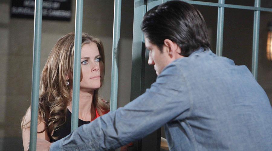 Sami confronts EJ. Photo courtesy NBC