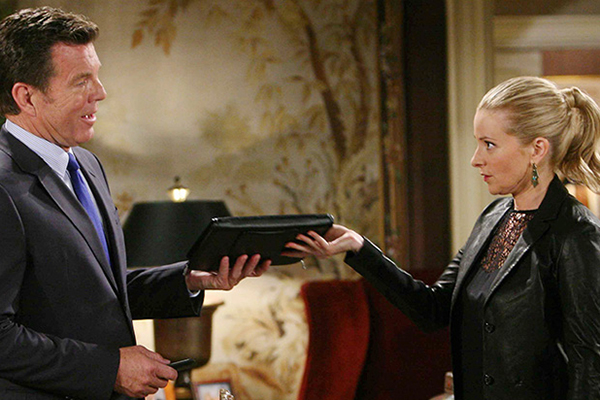 """Cady McClain, Peter Bergman """"The Young and the Restless"""" Set  CBS television City Los Angeles 03/20/14 © Howard Wise/jpistudios.com 310-657-9661 Episode # 10391 U.S. Airdate 04/16/14"""