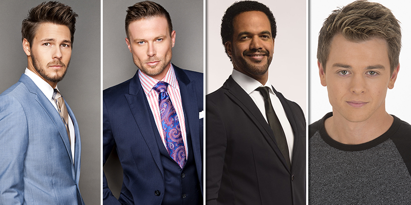 Photo credit (l-r): Scott Clifton courtesy Giles Toucas Photography; Jacob Young courtesy Giles Toucas Photography; Kristoff St. John courtesy CBS.com; Chad Duell courtesy Rick Rowell/ABC