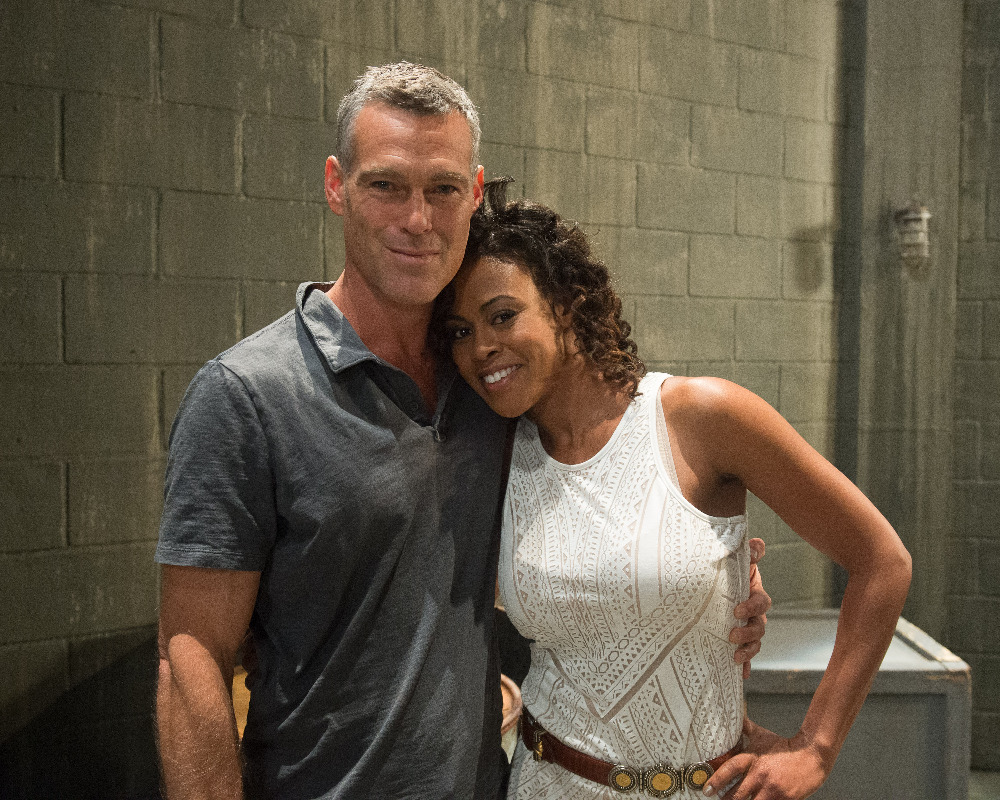 """GENERAL HOSPITAL - On Friday, May 15, 2015 and Monday, May 18, 2015, ABC unveils a two-day network daytime television event when """"General Hospital"""" broadcasts LIVE from The ABC Prospect Studios in Hollywood. """"GH"""" fans can take part in the conversation by using #GHLive.  """"General Hospital"""" airs Monday-Friday (3:00 p.m. - 4:00 p.m., ET) on the ABC Television Network.  (ABC/Matt Petit) GRAYSON MCCOUCH, VINESSA ANTOINE IN REHEARSAL FOR LIVE SHOWS"""