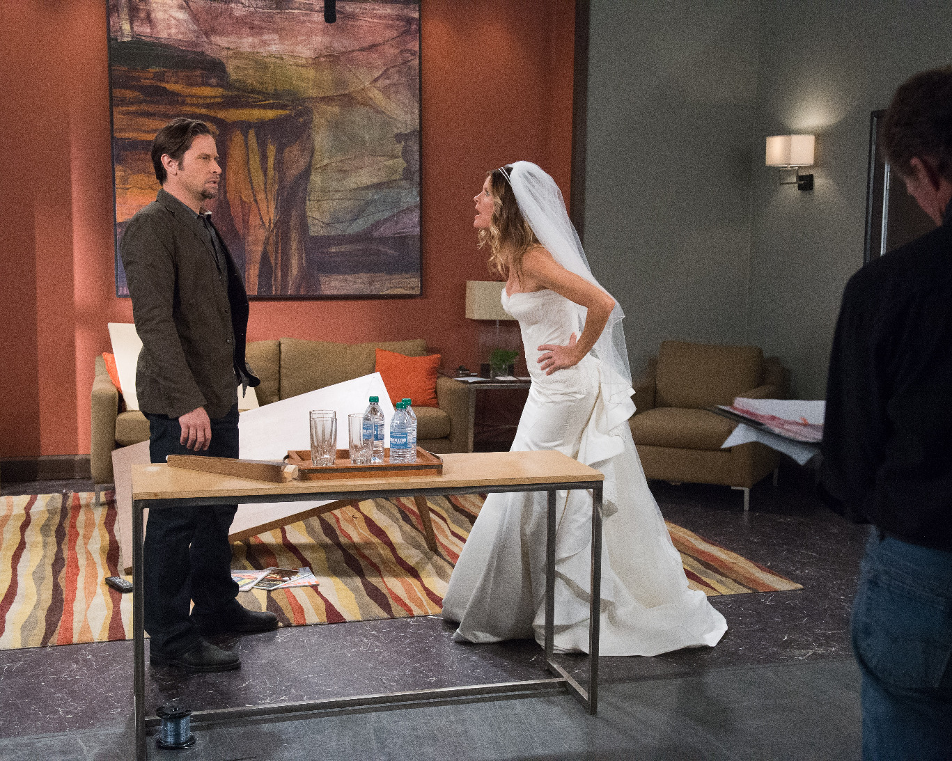 """GENERAL HOSPITAL - On Friday, May 15, 2015 and Monday, May 18, 2015, ABC unveils a two-day network daytime television event when """"General Hospital"""" broadcasts LIVE from The ABC Prospect Studios in Hollywood. """"GH"""" fans can take part in the conversation by using #GHLive.  """"General Hospital"""" airs Monday-Friday  (3:00 p.m. - 4:00 p.m., ET) on the ABC Television Network.   (ABC/Matt Petit)  ROGER HOWARTH, MICHELLE STAFFORD"""