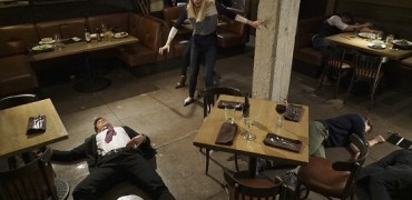 """STITCHERS - """"Full Stop"""" - A shooting leaves Detective Fisher in ICU, and Kirsten on the hunt for the cause in the summer finale of """"Stitchers,"""" airing Tuesday, August 4, 2015 at 9:00PM ET/PT on ABC Family. (ABC Family/Eric McCandless) DAMON DAYOUB, EMMA ISHTA, KYLE HARRIS"""