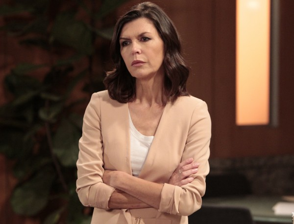 """GENERAL HOSPITAL - Finola Hughes (Anna) in a scene that airs the week of September 7, 2015 on ABC's """"General Hospital."""" The Emmy-winning daytime drama """"General Hospital"""" airs Monday-Friday (3:00 p.m. - 4:00 p.m., ET) on the ABC Television Network. GH15 (ABC/Rick Rowell) FINOLA HUGHES"""