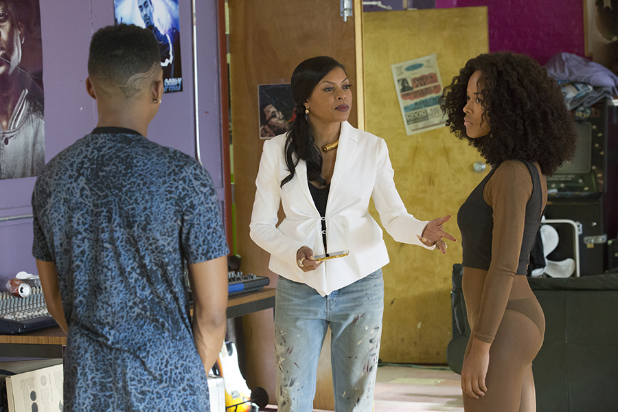 EMPIRE: Pictured L-R: Bryshere Gray as Hakeem Lyon, Taraji P. Henson and Serayah McNeill as Tiana in the 'Without A Country' episode of EMPIRE airing Wednesday, Sept. 30 (9:00-10:00 PM ET/PT) on FOX. ©2015 Fox Broadcasting Co. Cr: Chuck Hodes/FOX.