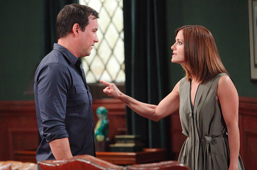 Hayden's (Rebecca Budig) grown tired of Nikolas' (Tyler Christopher) games. Photo Credit: © Howard Wise/jpistudios.com