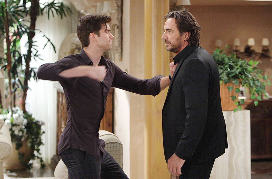 Pierson Fode and Thorsten Kaye in a scene airing September 30, 2015.  Photo Credit: © Howard Wise/jpistudios.com