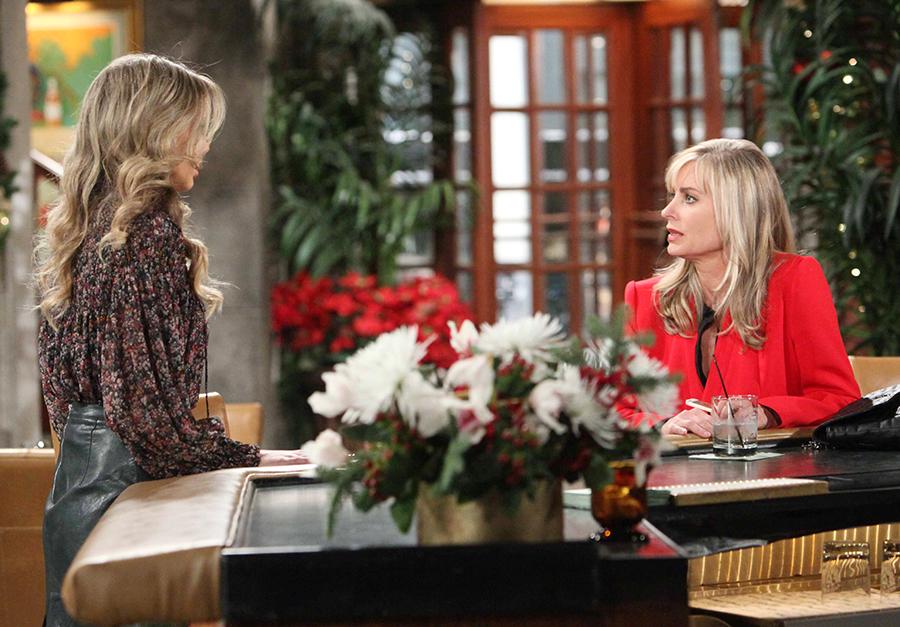Abby (Melissa Ordway) confronts Ashley (Eileen Davidson). Credit: Howard Wise/JPI Studios