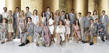 DAYS OF OUR LIVES -- Season: 50 -- Pictured: (l-r) Eric Martsolf as Brady Black, Judie Evans as Adrien Kiriakis, Jen Lilley as Thersea Donovan, John Aniston as Victor Kiriakis, Meredith Scott Lynn as Anne Milbauer, Josh Taylor as Roman Brady, Peggy McCay as Caroline Brady, Stephen Nichols as Steven Johnson, Mary Beth Evans as Kayla Brady, Greg Vaughan as Eric Brady, Alison Sweeney as Sami Brady, Drake Hogestyn as John Black, Christopher Sean as Paul Narita, Deidre Hall as Dr. Marlena Evans, Bill Hayes as Doug Williams, Susan Hayes as Julie Willimas, Kate Mansi as Abigail Deveraux, Robert Scott Wilson as Ben Rogers, Kristian Alfonso as Hope Brady, Missy Reeves as Jennifer Horton, Suzanne Rogers as Maggie Horton, Casey Moss as JJ Deveraux, Camila Banus as Gabi Hernandez, James Reynolds as Abe Carver, Sal Stowers as Lani, A. Martinez as Eduardo, Thaao Penghlis as Tony DiMera, Bryan Dattilo as Lucas Roberts, Lauren Koslow as Kate Roberts, Joe Mascolo as Stefano DiMero, Billy Flynn as Chad DiMero -- (Photo by: Chris Haston/NBC)