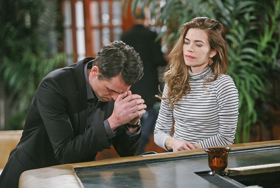 "Amelia Heinle, Jason Thompson ""The Young and the Restless"" Set  CBS television City Los Angeles 01/20/16 © sean smith/jpistudios.com 310-657-9661 Episode # 10863 U.S. Airdate 02/19/16"