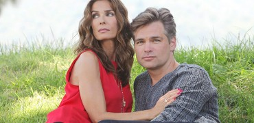 "Kristian Alfonso, Daniel Cosgrove ""Days of our Lives"" Set with Kristian Alfonso/Daniel Cosgrove NBC Studios Burbank 07/25/14 å© Howard Wise/jpistudios.com 310-657-9661"