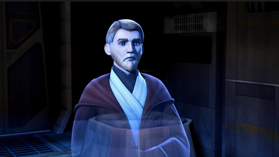 Obi-Wan's first Rebels appearance was via a Holocron in the pilot, leaving a message behind for the Jedi that was recorded in the aftermath of Episode III: Revenge of the Sith. Obi-Wan urges the Jedi to trust in the Force, for one day a new hope shall emerge. While none of the Ghost crew knows who Obi-Wan speaks of, the audience is well aware he is referring to one Luke Skywalker. With the signature Star Wars theme slowly playing the background, the scene was the perfect end to the Rebels pilot episode & a perfect introduction to the series as a whole.