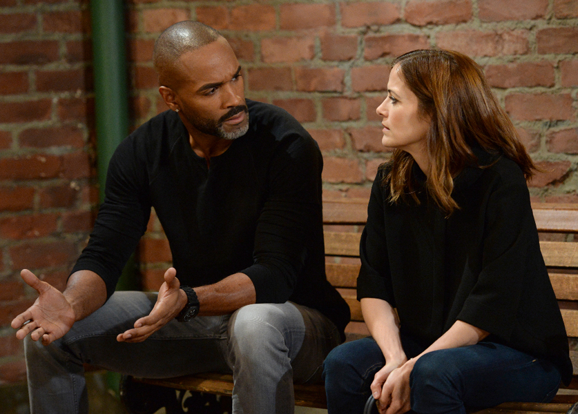 """GENERAL HOSPITAL - Show coverage of ABC's """"General Hospital"""" airing the week of March 28, 2016.  The Emmy-winning daytime drama """"General Hospital"""" airs Monday-Friday (3:00 p.m. - 4:00 p.m., ET) on the ABC Television Network.    GH16 (ABC/Michael Yada)DONNELL TURNER, REBECCA BUDIG"""