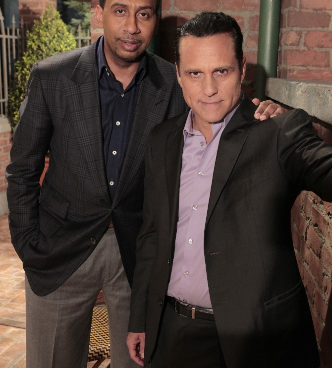 """GENERAL HOSPITAL - ESPN's Stephen A. Smith will make a cameo appearance Thursday, March 31, 2016 on ABC's """"General Hospital.""""  The Emmy-winning daytime drama """"General Hospital"""" airs Monday-Friday (3:00 p.m. - 4:00 p.m., ET) on the ABC Television Network.    GH16(ABC/Rick Rowell)STEPHEN A. SMITH, MAURICE BENARD"""