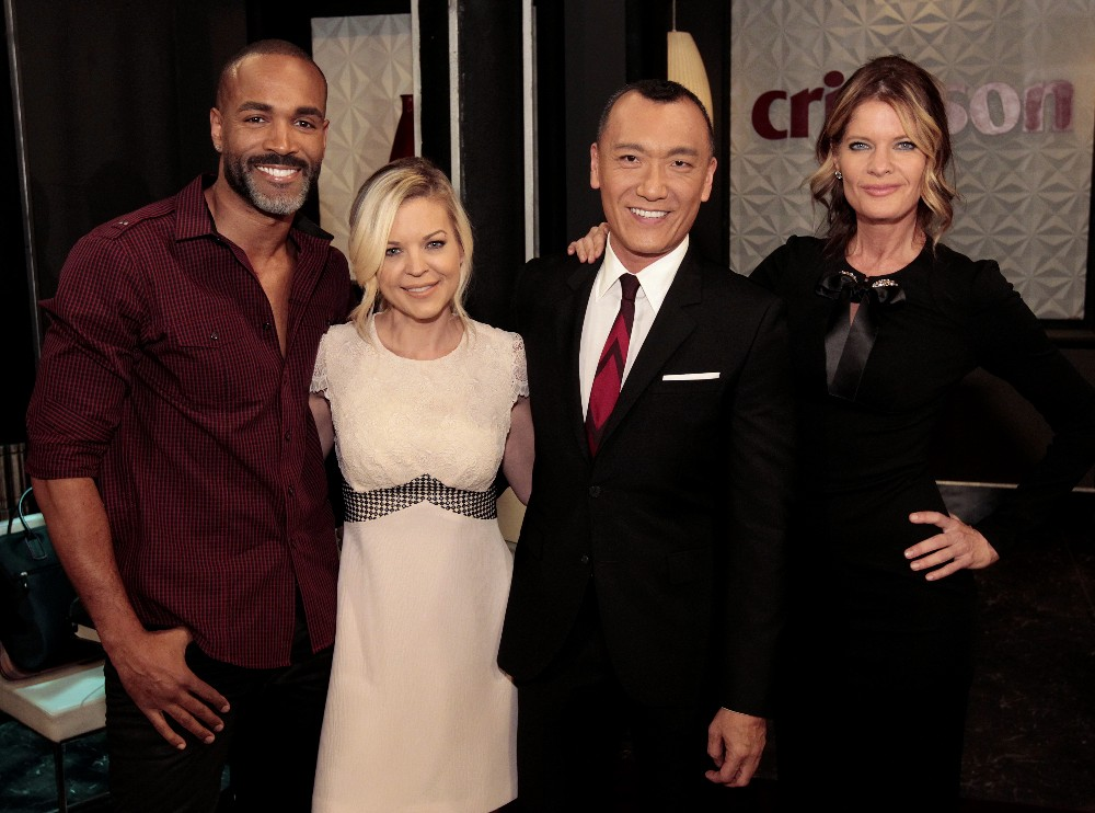 """GENERAL HOSPITAL - """"FABLife"""" host, editor-in-chief, Yahoo Style and longtime """"General Hospital"""" enthusiast, Joe Zee will make cameo appearance on Friday, April 1, 2016 on ABC's """"General Hospital.""""  The Emmy-winning daytime drama """"General Hospital"""" airs Monday-Friday (3:00 p.m. - 4:00 p.m., ET) on the ABC Television Network.    GH16  (ABC/Rick Rowell)  DONELL TURNER, KIRSTEN STORMS, JOE ZEE, MICHELLE SAFFORD"""