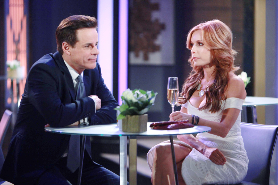 """Tracey Bregman, Christian LeBlanc """"The Young and the Restless"""" Set  CBS television City Los Angeles 02/11/16 © Howard Wise/jpistudios.com 310-657-9661 Episode # 10883 U.S. Airdate 03/22/16"""