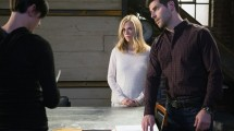 "GRIMM -- ""Into The Schwarzwald"" Episode 512 -- Pictured: (l-r) Claire Coffee as Adalind Schade, David Giuntoli as Nick Burkhardt -- (Photo by: Scott Green/NBC)"