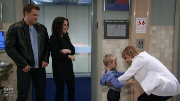 Jason, Sam and Danny visited Monica at the hospital.
