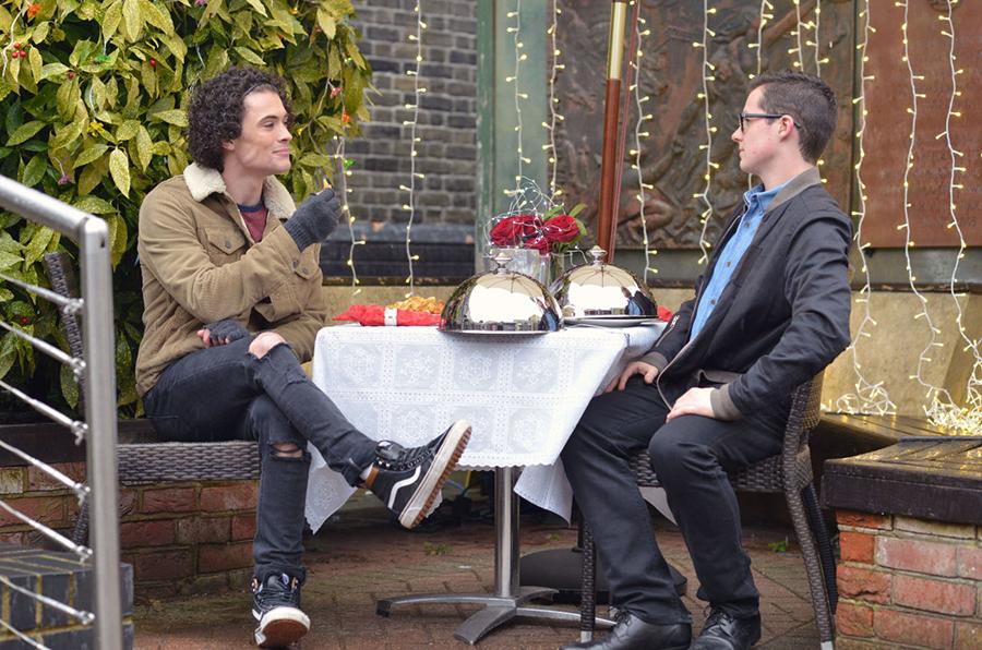 Ben has a surprise for Paul. Photo courtesy BBC