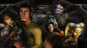 "STAR WARS REBELS - Sabine, Chopper, Kanan, Ezra, Zeb and Hera on the Ghost.  ""Star Wars Rebels"" is scheduled to premiere in October 2014 as a one-hour special telecast on Disney Channel, and will be followed by a series on Disney XD channels around the world. (Photo by Lucasfilm via Getty Images)"
