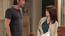 """GENERAL HOSPITAL - Roger Howarth (Franco) and Rebecca Herbst (Elizabeth) in a scene that airs the week of June 20, 2016 on ABC's """"General Hospital."""" The Emmy-winning daytime drama """"General Hospital"""" airs Monday-Friday (3:00 p.m. - 4:00 p.m., ET) on the ABC Television Network.   GH16  (ABC/Rick Rowell) ROGER HOWARTH, REBECCA HERBST"""