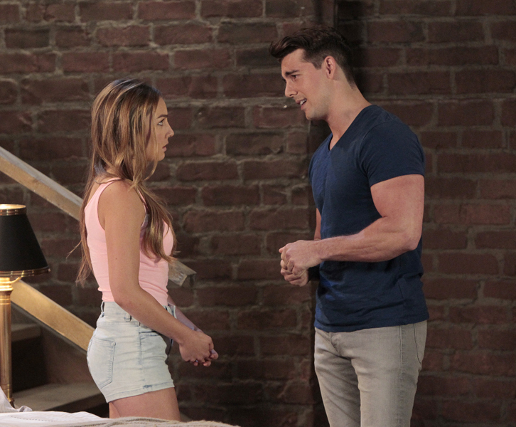 "GENERAL HOSPITAL - Lexi Ainsworth (Kristina) and John DeLuca (Aaron) in a scene that airs the week of June 20, 2016 on ABC's ""General Hospital."" The Emmy-winning daytime drama ""General Hospital"" airs Monday-Friday (3:00 p.m. - 4:00 p.m., ET) on the ABC Television Network.   GH16  (ABC/Rick Rowell) LEXI AINSWORTH, JOHN DELUCA"