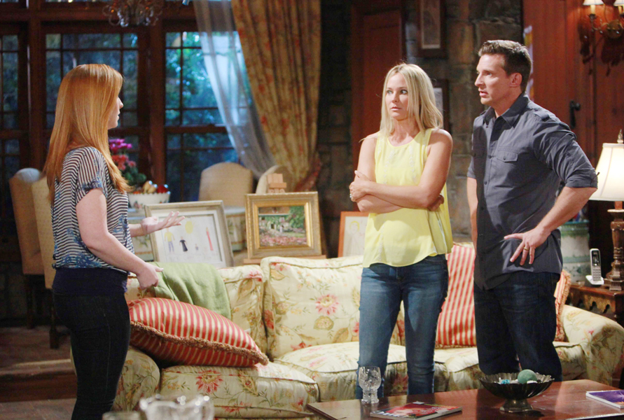 "Steve Burton, Sharon Case, Camryn Grimes ""The Young and the Restless"" Set  CBS television City Los Angeles 05/04/16 © Howard Wise/jpistudios.com 310-657-9661 Episode # 10942 U.S. Airdate 06/13/16"