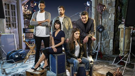 (L to R top) Jeffrey Bowyer-Chapman, Josh Kelly, Craig Bierko, (L to R Bottom) Constance Zimmer and Shiri Appleby star in Season 2 of Lifetime's hit drama UnREAL premiering, Monday, June 6 at 10pm ET/PT on Lifetime. Photo by Joseph Viles Copyright 2016