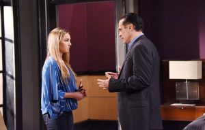 Kristina (Lexi Ainsworth) opens up to Sonny (Maurice Benard). Photo: © XJ JOHNSON/JPI Studios