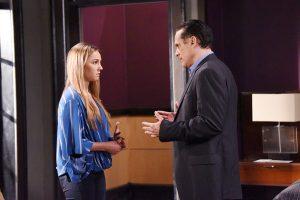 Kristina (Lexi Ainsworth) opens up to Sonny (Maurice Benard). Photo: © XJ JOHNSON/JPI Studios