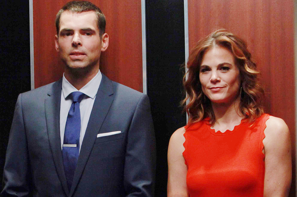 """Gina Tognoni, Jason Thompson """"The Young and the Restless"""" Set  CBS television City Los Angeles 06/22/16 © Howard Wise/jpistudios.com 310-657-9661 Episode # 10977 U.S. Airdate 08/01/16"""